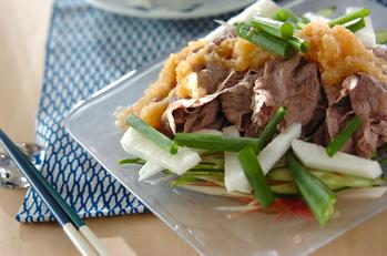 牛肉の冷しゃぶサラダ仕立て