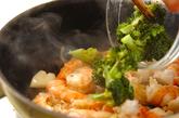 エビとブロッコリーの塩炒めの作り方2