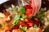 海老のカレー炒めの作り方2