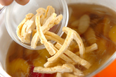サツマイモとゴボウのみそ汁の作り方1