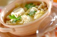 白菜とホワイトシメジのスープ