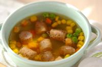 ハーブソーセージのスープ
