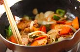 豚肉とピーマンの黒酢炒めの作り方2