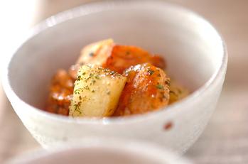 ジャガイモと鮭のサラダ