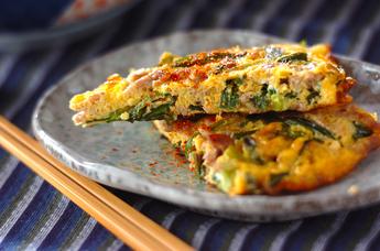 ニラの韓国風卵焼き