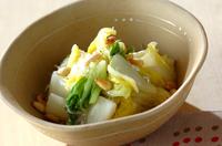 白菜のチリメン酢和え