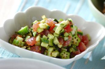 マグロのサラダ仕立て