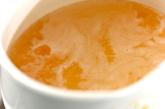 ひらひらニンジンとエビのスープの作り方1