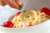 むきエビのサラダスパの作り方2