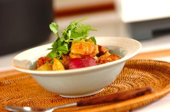 チキンとサツマイモのココナッツスープ