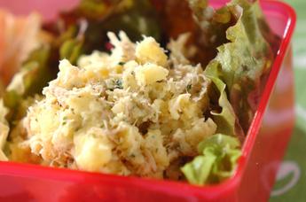 サツマイモのマッシュサラダ