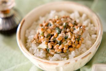 納豆&ワサビご飯