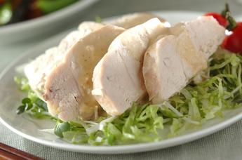 レンジ蒸し鶏