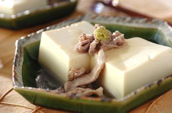 豆腐の豚肉あんかけ
