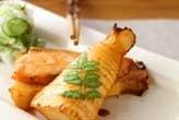 筍とサーモンの重ね焼き