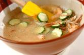 鮭とキュウリの冷や汁素麺の作り方3