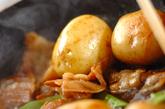 新ジャガと豚の煮っころがしの作り方2