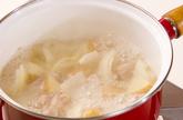 鶏ジャガのさっぱり卵とじの作り方3