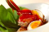 肉巻き卵の甘酢あんかけの作り方4
