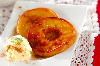 リンゴのソテー