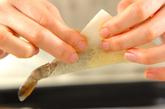 エビのチーズ焼き春巻きの作り方1