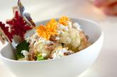 ブロッコリーとカリフラワーのサラダの作り方1