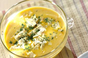 カボチャの和風スープ