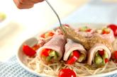ゆで豚の野菜巻きの作り方3