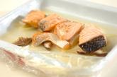 サーモンとキノコのレンジ蒸しの作り方2