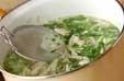 エノキと豆苗の炒め汁の作り方2