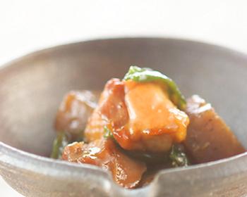 鶏肉と蒟蒻の甘辛煮