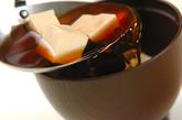豆腐と塩昆布のお吸い物の作り方2