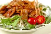 ショウガ焼きのサラダ仕立ての作り方3