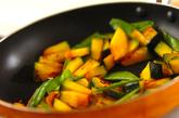 カボチャのみそマヨ炒めの作り方1