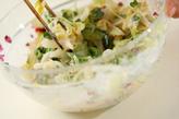 白菜の柴マヨ和えの作り方2