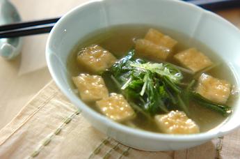 シャキシャキ水菜の中華スープ
