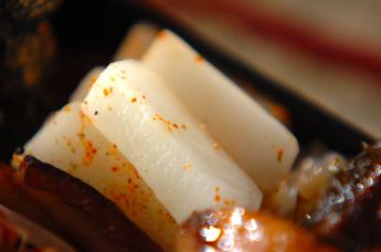 塩もみ大根のピリ辛漬け