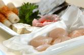 ホタテとチーズの天ぷらの下準備2