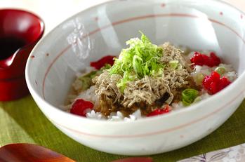 とろろ昆布と梅のサッパリスープご飯
