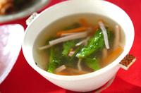 菜の花の中華スープ