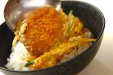 里芋のコロッケ丼の作り方4