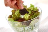 レタスの磯サラダの作り方1