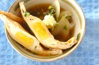揚げ巾着と白菜のうま煮あんかけ