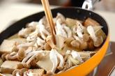 豚肉と焼き豆腐の煮物の作り方1