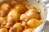 新ジャガと鶏肉の木の芽煮の作り方2