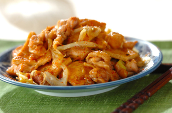 鶏と油揚げの炒め煮