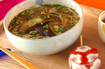 ナスの温麺
