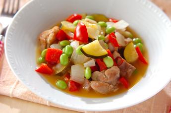 鶏肉と彩り野菜のビネガー煮