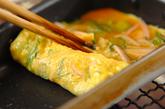 ネギとハムの卵焼きの作り方3