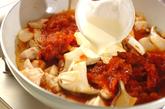 鶏とエリンギのトマトクリームパスタの作り方2